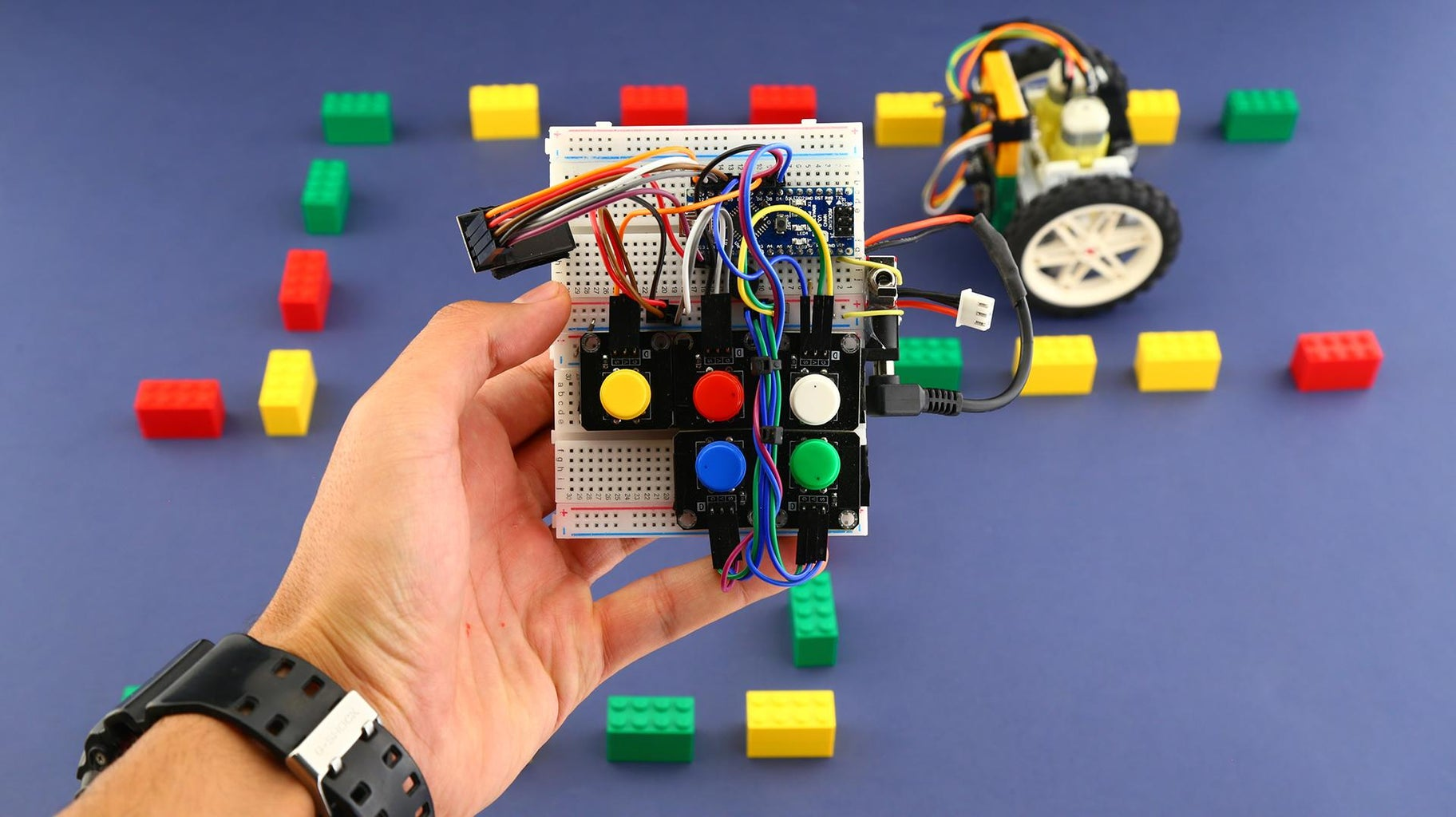 General View of the Tangible Coding Robot