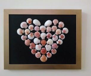 Shell Heart Home Decor
