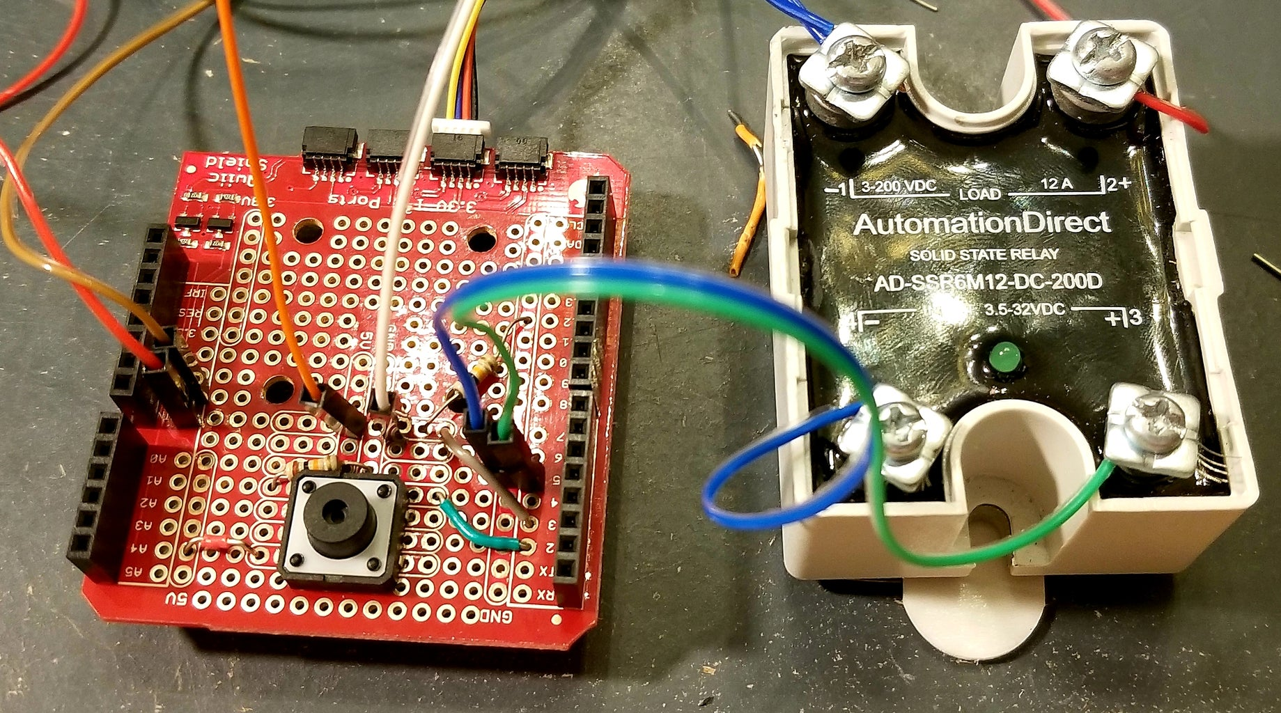 Wiring the INPUT to the Solid State Relay