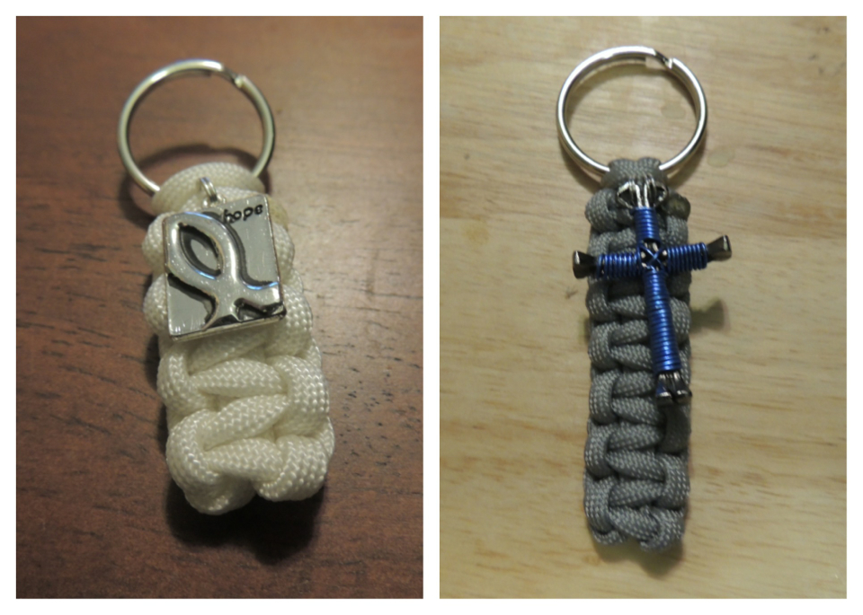 Paracord Key Fob with Charm