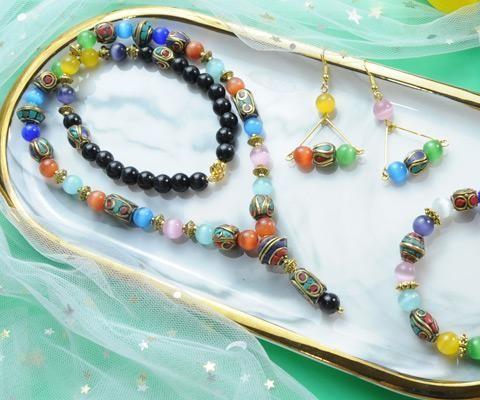 Beebeecraft Tutorials on Making Tibetan Beads  Necklace