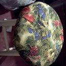Make a easy no sew stool cover