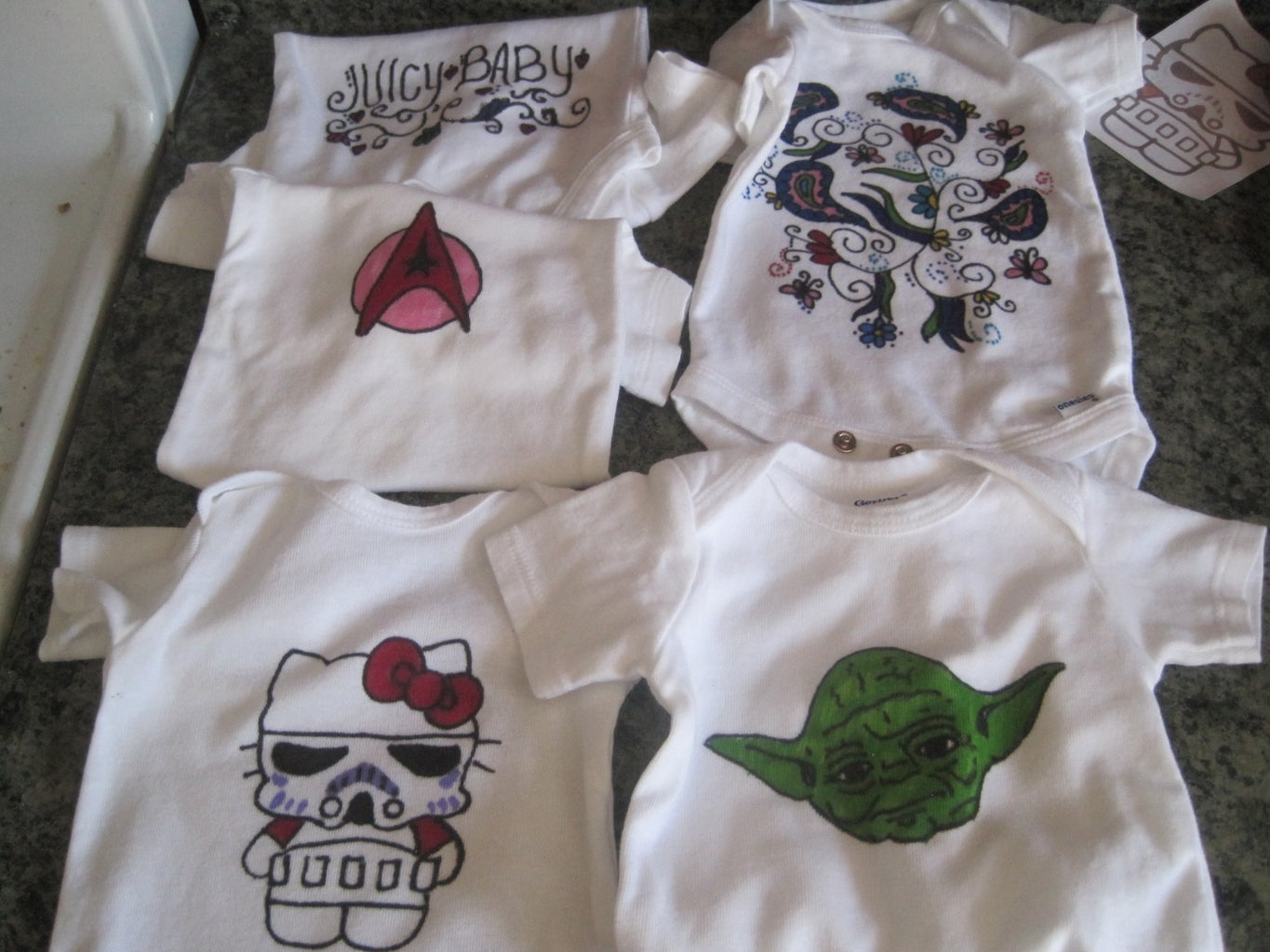 Decorating a Onesie With a Permanent Marker