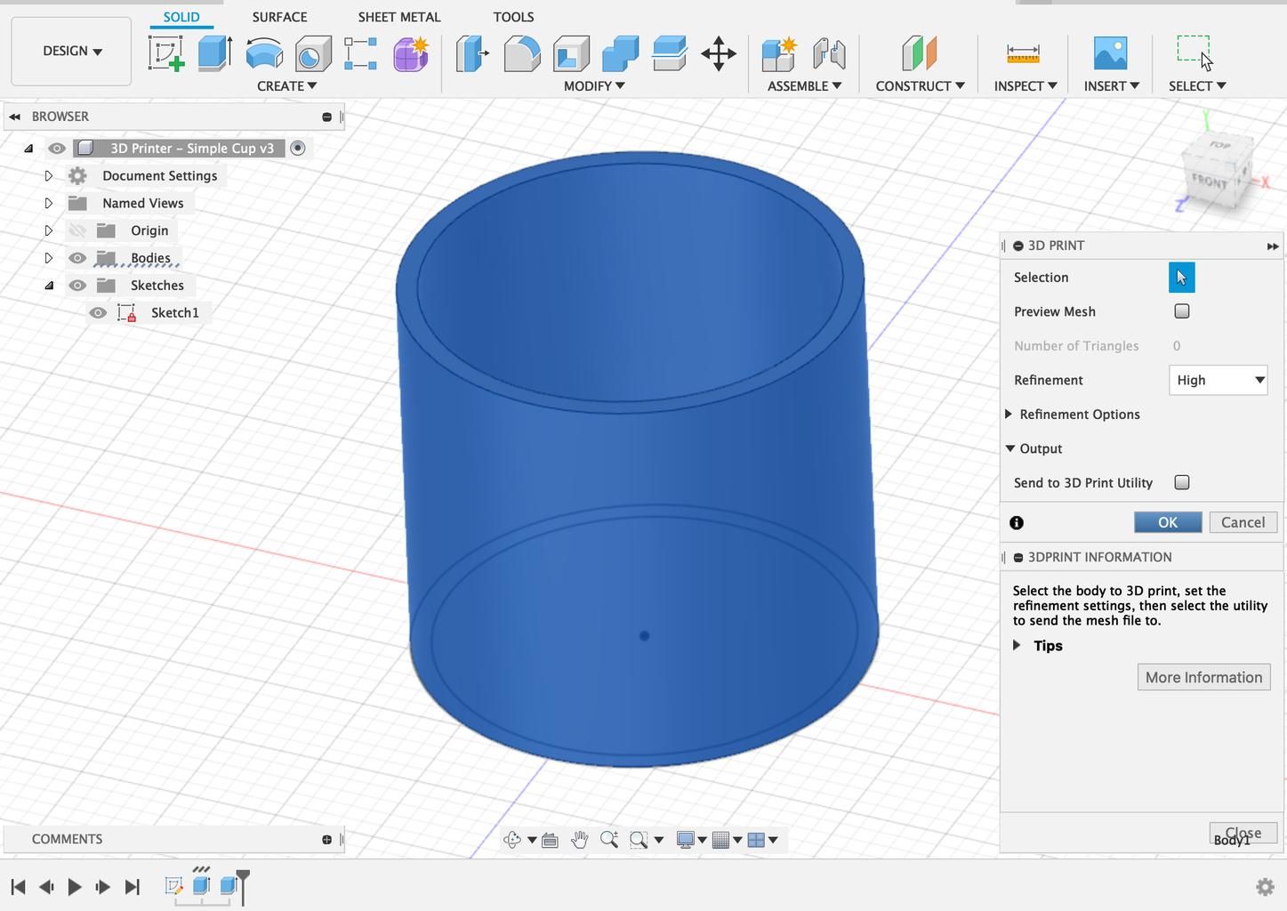 Export Your 3d Design As an STL File