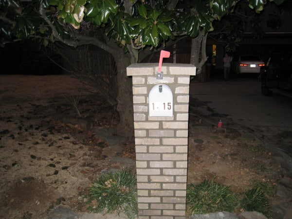 Do-it-yourself Brick Mailbox
