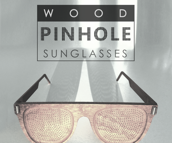 WOOD PINHOLE SUNGLASSES / Anteojos De Sol Reticulares De Madera