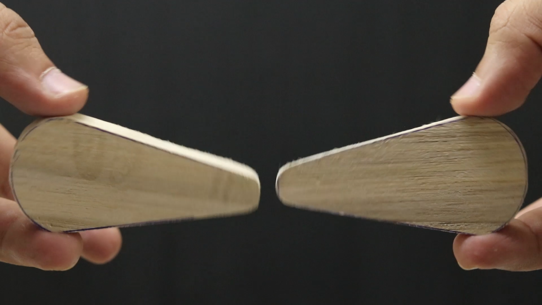 Cut Two Wooden Paddles