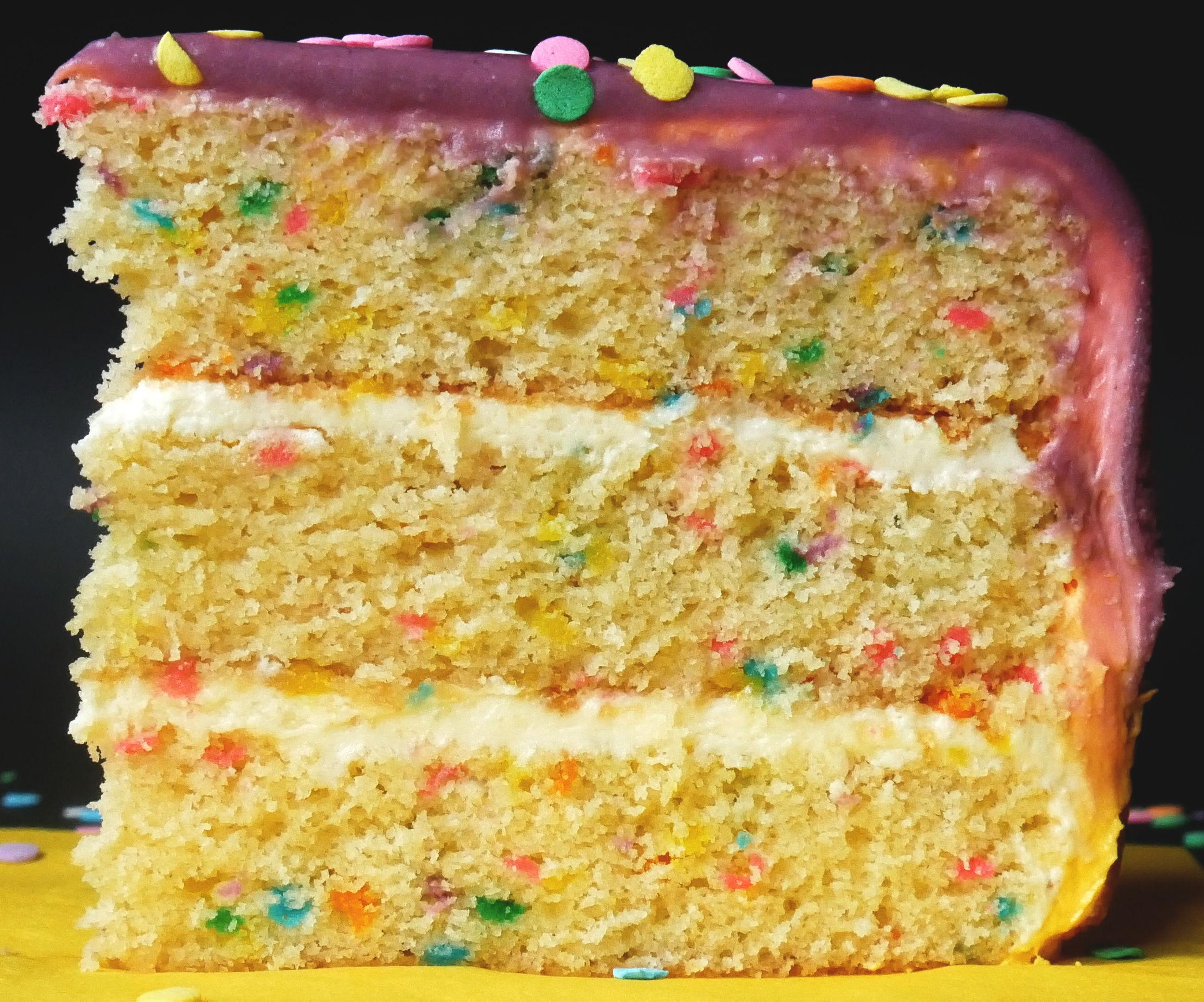 CONFETTI (FUNFETTI) BIRTHDAY DRIP CAKE