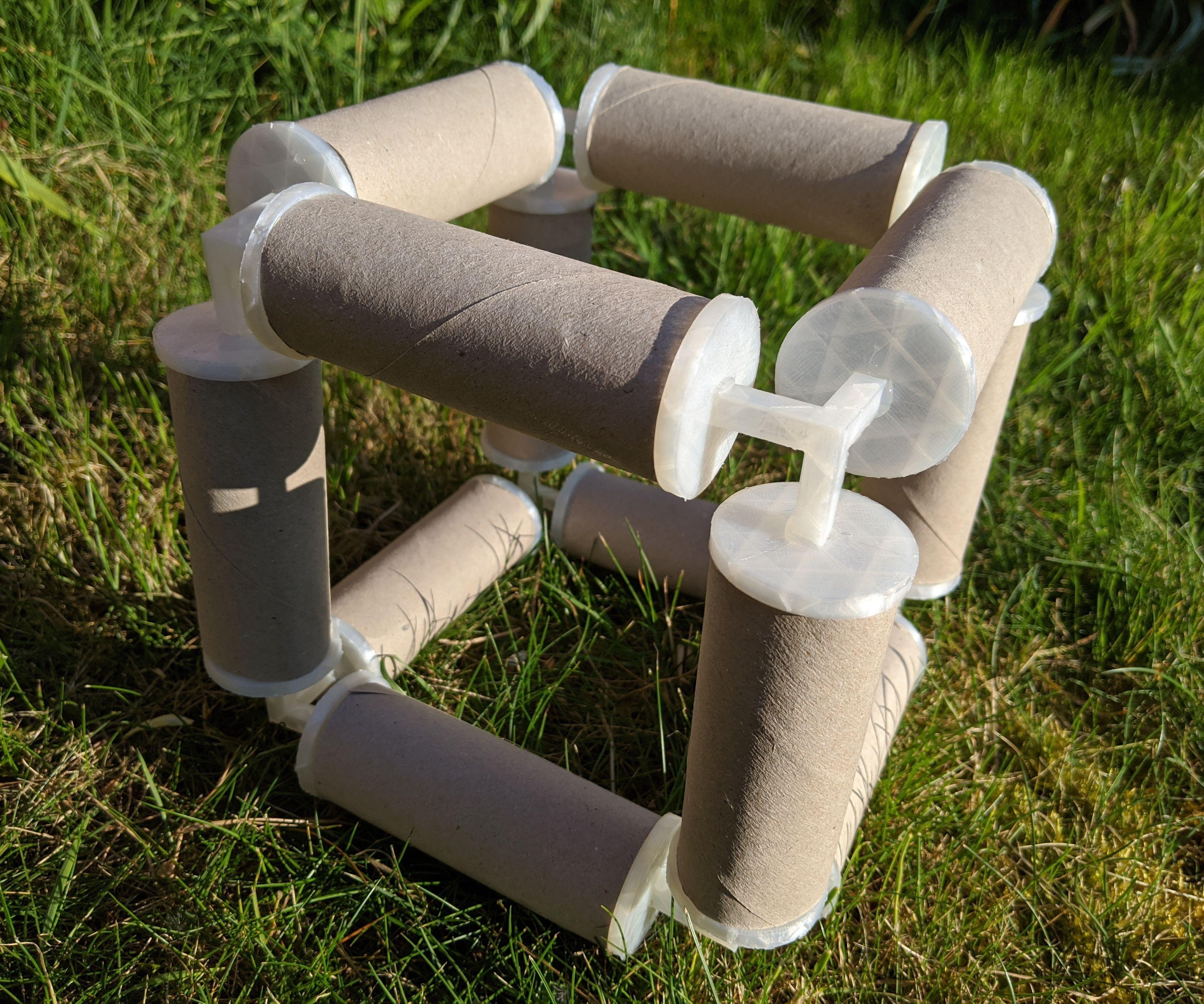 Turn Toilet Rolls Into Construction Toys