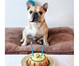 你的狗的分层生日蛋糕!