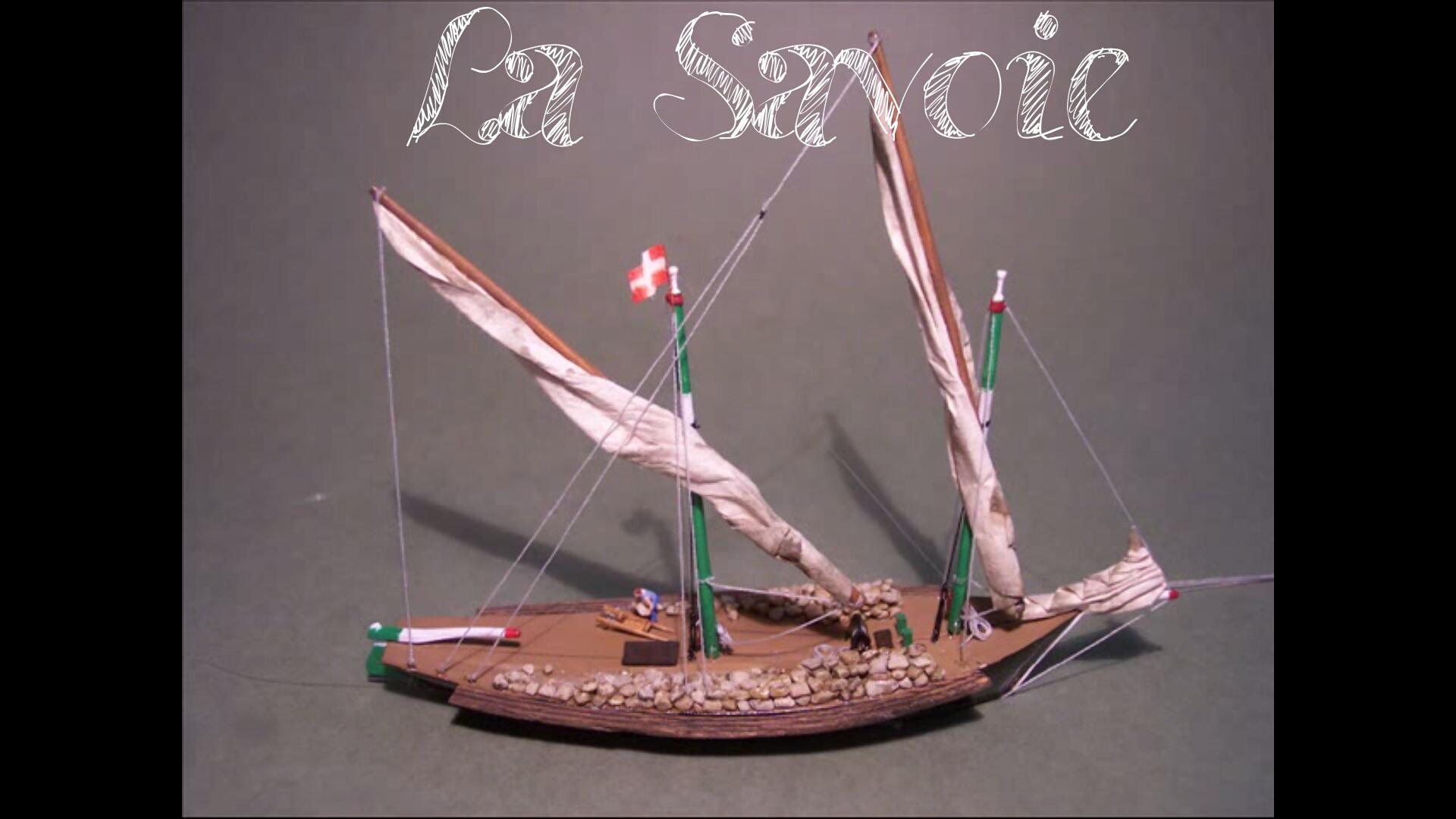 Model Ship: Barque La Savoie