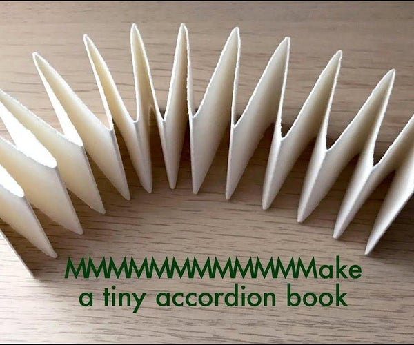 Folding an Accordion Book From Scrap Paper