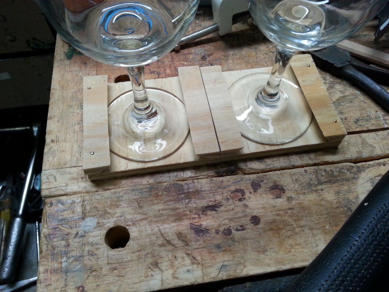 Shot Glass and Wine Glass Storage