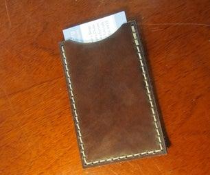 Simple Laser-cut Leather Card Case