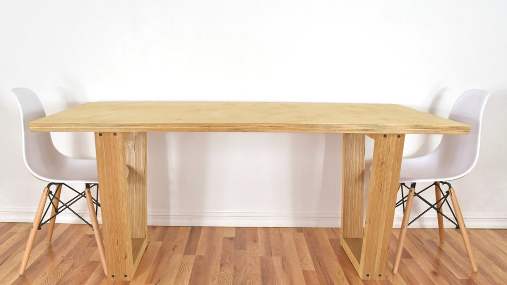 Making High End Furniture From Plywood Diy Modern Dining Table 6 Steps With Pictures Instructables