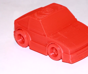 3D Printing: How to Print a Toy Car From Myminifactory Using SelfCAD
