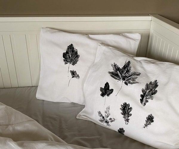 叶面印花枕套