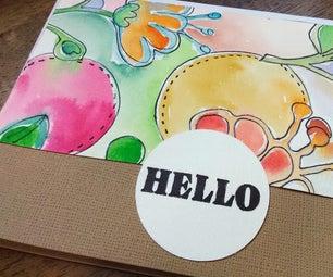 Watercolor Greeting Cards Using Cricut Pens