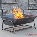 Modern Steel Fire Pit