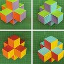 Rainbow Colored 3D Paper Cross