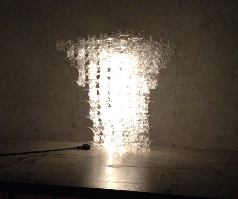 Plastic Lid and Straw Fractal Lamp