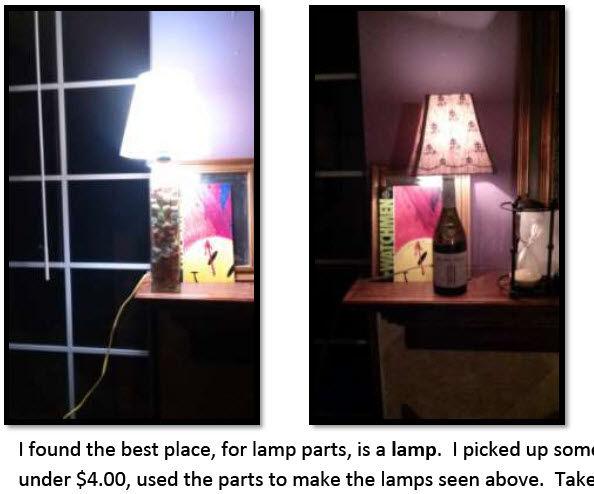 Any Bottle Lamp Please