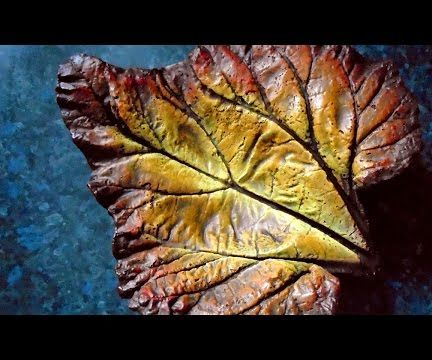 Concrete Leaf Painting - Autumn Flame Style