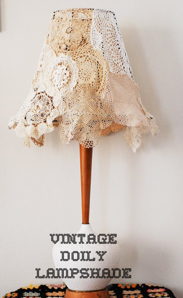 Vintage Doily Lampshade!
