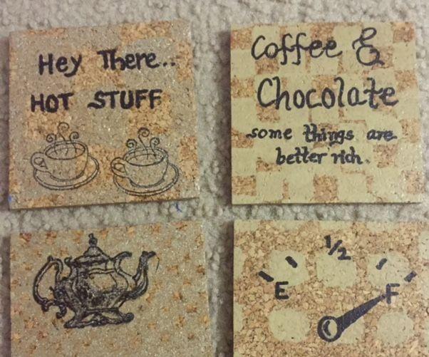Cardboard Cork Coasters