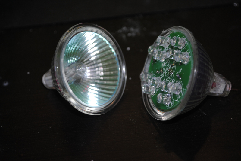 Convert MR16 Halogen to LED light using only aprox 1 watt.