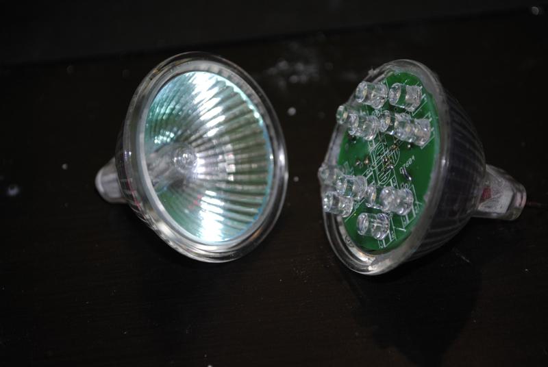 Convert MR16 Halogen to LED light using only aprox 1 watt.