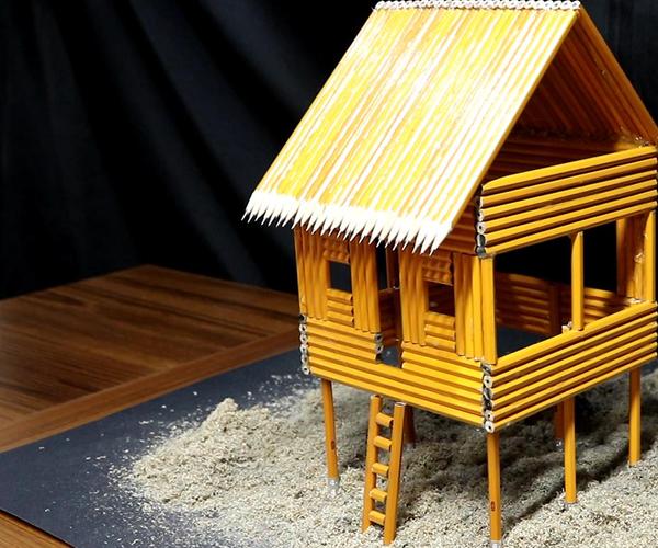 I Turn an Ordinary PENCIL Into a Beach House - Hut!