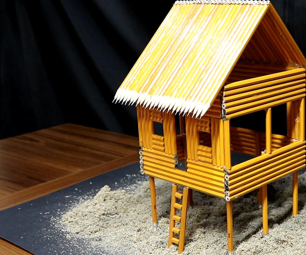 I Turn an Ordinary PENCIL Into a Beach House - Hut!