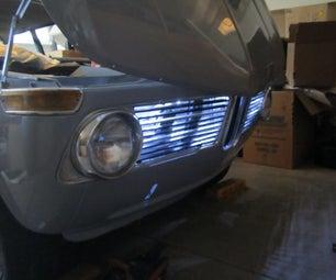发光格栅,BMW修复