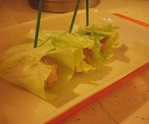 Lettuce Wrapped Pork Dumplings
