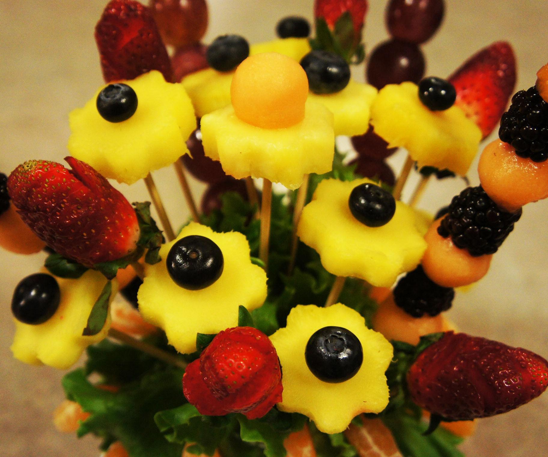Edible Fruits Arrangement in Mason Jar