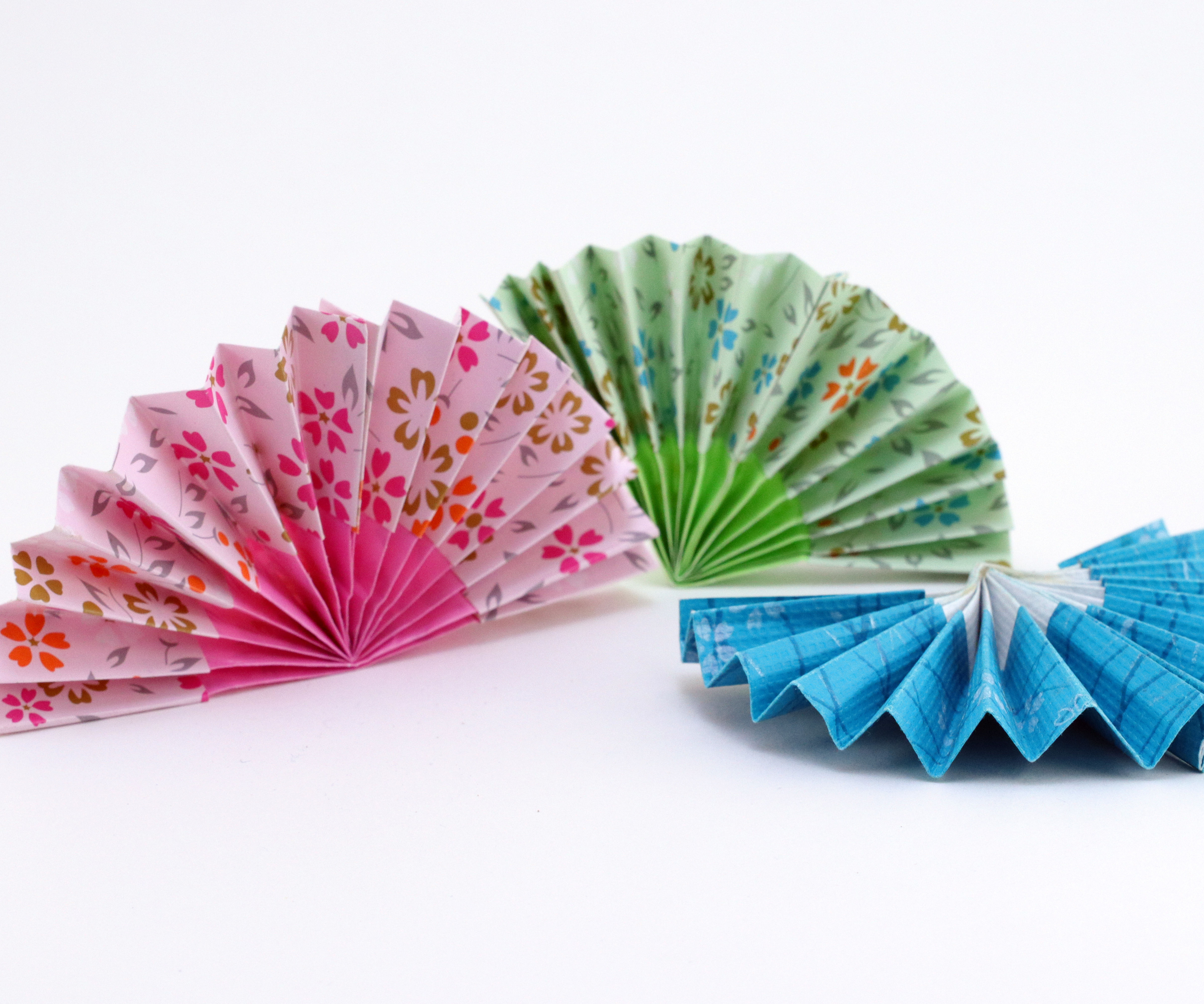 Easy Origami Fan ✿ DIY Crafts Tutorial ✿ - SunderOrigami!