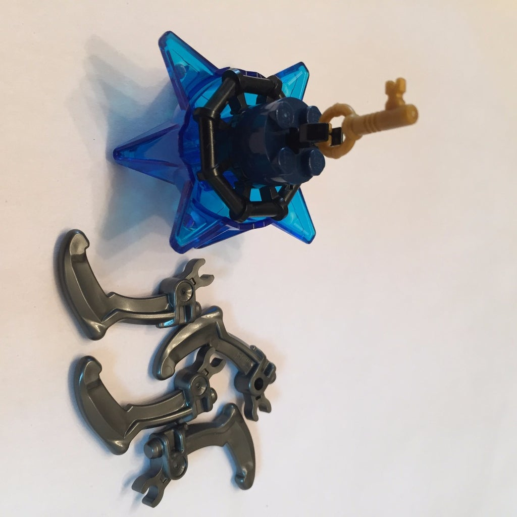 Put Claws on Top of the Spikes of the Blue Half Spike Ball