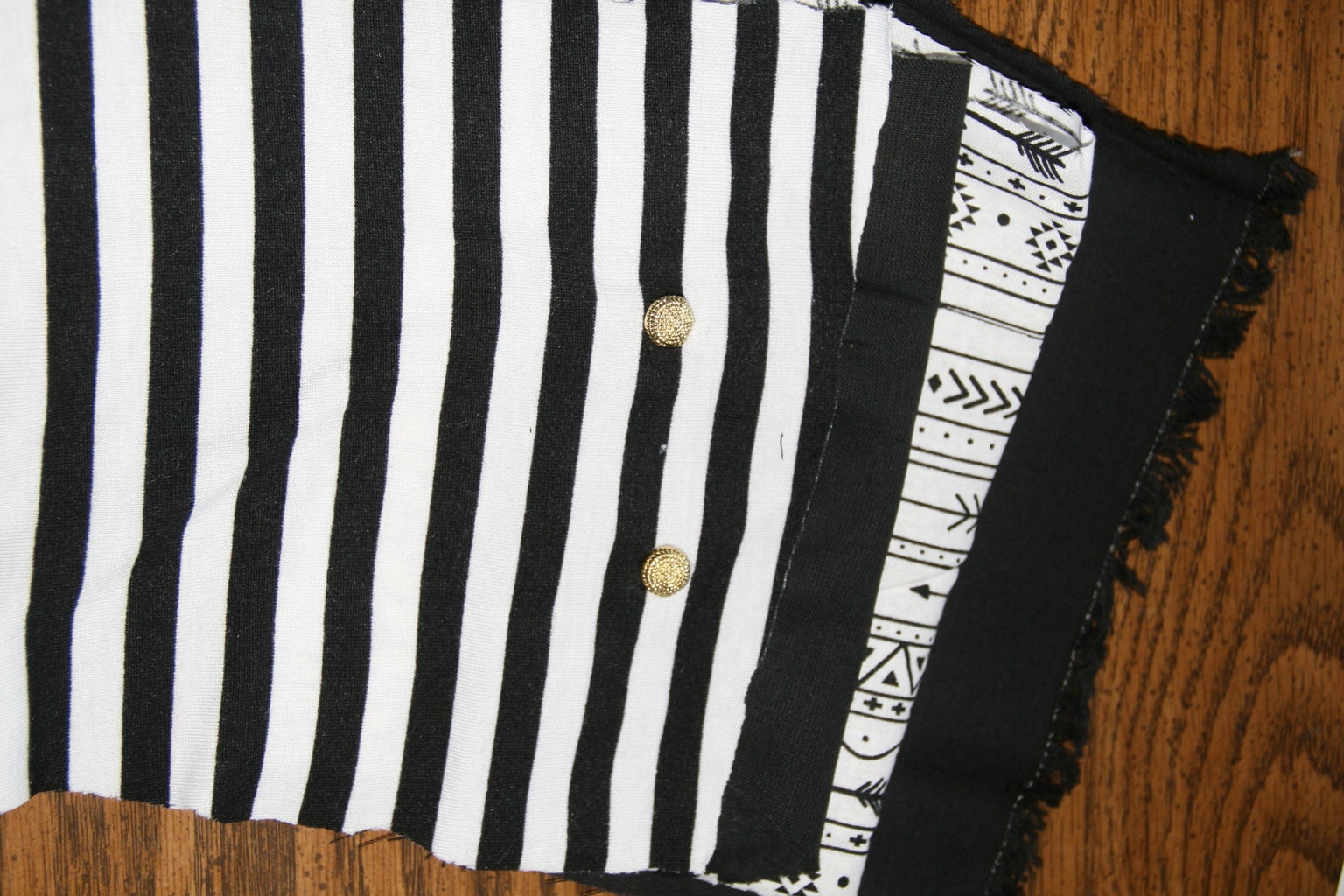Attach Fabric Pieces Together.