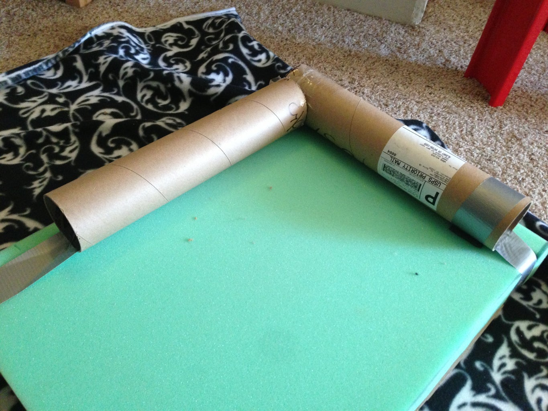 Cut and Add Cardboard Bolsters
