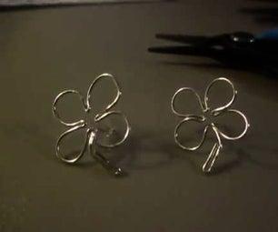 Beginner How to Make Cute Shamrock/Four Leaf Clover Stud Earrings
