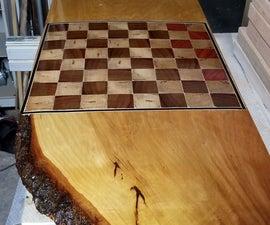 Live Edge Chessboard