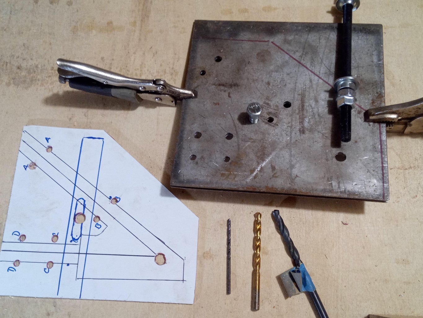 Drill the Holes on Both Steel Plates