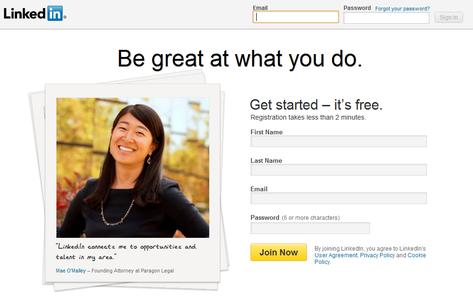 Getting to Linkedin.com