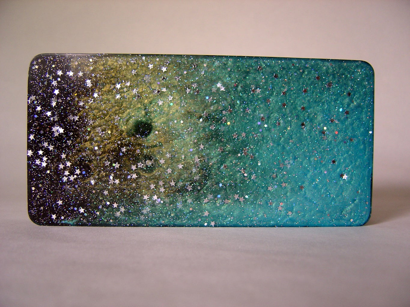 Cosmic Light With LEDs Embedded in Resin