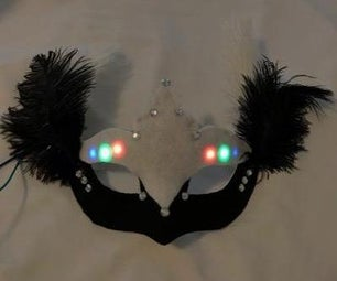 Light Sensing Masquerade Mask