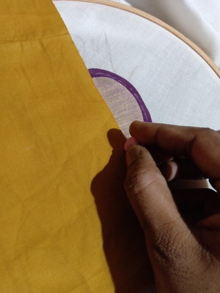 Mark & Cut the Cloth Pieces in Appropriate Shapes, According to the Peacock Layers!