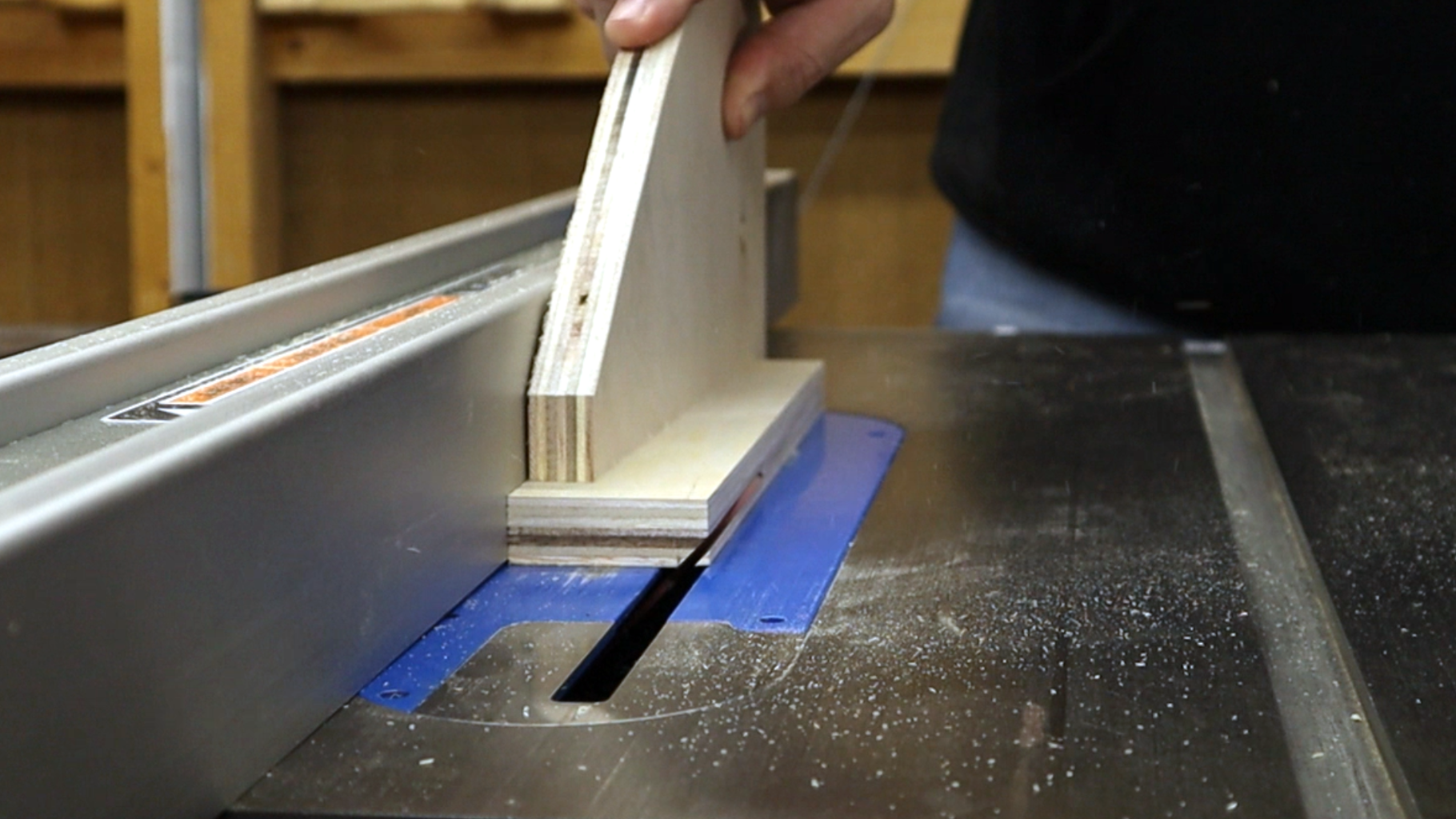 Cut Angles in the Support Pieces.