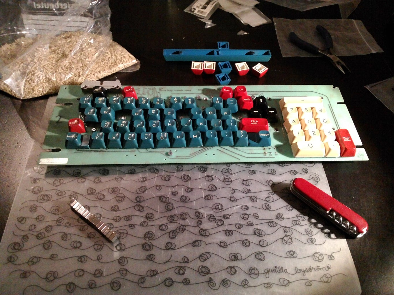 Inserting the Magnets Into the Keys