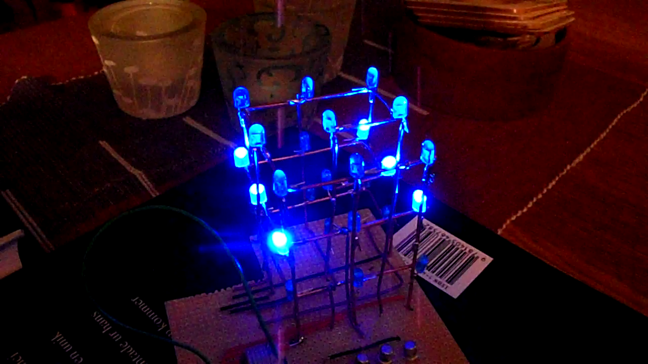 3X3 LED Cube Programming tips (Arduino based)